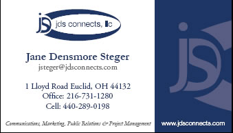 Jane Stegers Front of Buisness Card